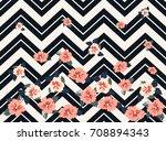 pretty vintage feedsack pattern ... | Shutterstock . vector #708894343