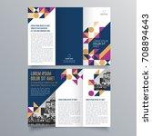 brochure design  brochure... | Shutterstock .eps vector #708894643