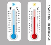meteorology thermometers... | Shutterstock .eps vector #708896977