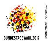 german flag paint brush strokes ... | Shutterstock .eps vector #708906067