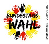 german flag paint brush strokes ... | Shutterstock .eps vector #708906187