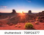 Sunrise At Monument Valley ...