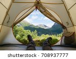 view from the tourist tent to... | Shutterstock . vector #708937777