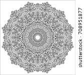adult coloring page. outline... | Shutterstock .eps vector #708951877