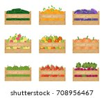 fresh healthy vegetables and... | Shutterstock .eps vector #708956467