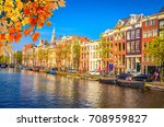 traditional old buildings and...   Shutterstock . vector #708959827