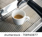 close up of white ceramic cup... | Shutterstock . vector #708960877