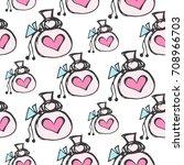 pattern sack doodle vector    Shutterstock .eps vector #708966703