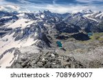 Aerial View Of The Swiss Alps...