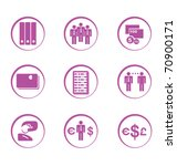 stock vector financial icons | Shutterstock .eps vector #70900171