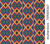 seamless ethnic tribal pattern... | Shutterstock .eps vector #709005367
