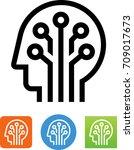 global brain icon | Shutterstock .eps vector #709017673