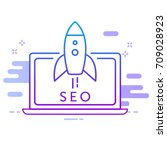 seo icon for web site of mobile ...   Shutterstock .eps vector #709028923
