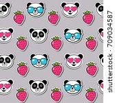 childish color seamless pattern ... | Shutterstock .eps vector #709034587