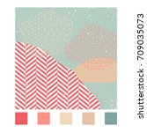 japanese pattern vector with... | Shutterstock .eps vector #709035073