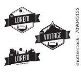 set of vintage retro badge... | Shutterstock .eps vector #709045123