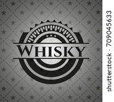 whisky black emblem. vintage. | Shutterstock .eps vector #709045633