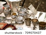 Antique Silver Teapots  Creame...