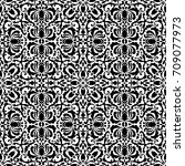 baroque seamless pattern with... | Shutterstock .eps vector #709077973