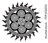 celtic design   spiral celtic... | Shutterstock .eps vector #709103053
