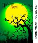 halloween party vectors | Shutterstock .eps vector #709109557