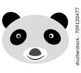funny panda face  isolated on... | Shutterstock .eps vector #709120477