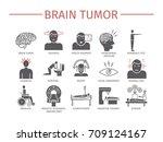 brain tumor cancer symptoms.... | Shutterstock .eps vector #709124167
