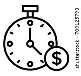 time is money vector icon | Shutterstock .eps vector #709125793