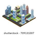 city landscape construction... | Shutterstock .eps vector #709131007