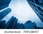 skyscraper from a low angle...   Shutterstock . vector #709138057