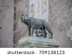 the capitoline wolf  statue of... | Shutterstock . vector #709138123
