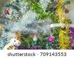 decoration of christmas tree... | Shutterstock . vector #709143553