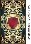 golden ornate art deco vintage