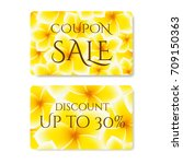 gift coupon  gift card ... | Shutterstock .eps vector #709150363