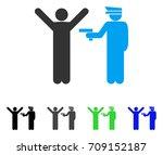 police arrest vector pictograph.... | Shutterstock .eps vector #709152187