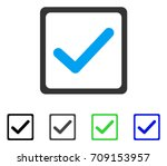 checkbox vector pictogram.... | Shutterstock .eps vector #709153957