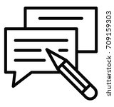 write comment vector icon   Shutterstock .eps vector #709159303
