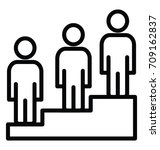 career advancement vector icon | Shutterstock .eps vector #709162837