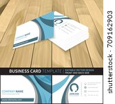 business card template.... | Shutterstock .eps vector #709162903