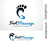 foot massage logo template... | Shutterstock .eps vector #709189723