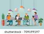 vector illustration of... | Shutterstock .eps vector #709199197