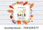 fall sale banner background... | Shutterstock .eps vector #709209577