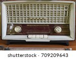 retro radio background | Shutterstock . vector #709209643
