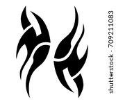 tribal tattoo art designs.... | Shutterstock .eps vector #709211083