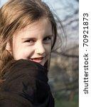 portrait of a cute little girl...   Shutterstock . vector #70921873