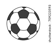 football soccer and  icon | Shutterstock .eps vector #709223593