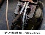 burnt wires   Shutterstock . vector #709225723