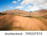 mountain sandy ridges. view of... | Shutterstock . vector #709237573
