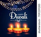 Happy Diwali. Traditional...
