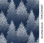 winter seamless pattern with... | Shutterstock .eps vector #709239487